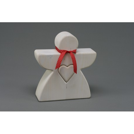Cuore d'angelo, 28 cm, bianco