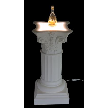 Colonna rigata illuminata